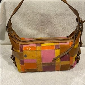 Vintage FOSSIL Patchwork Shoulder Bag